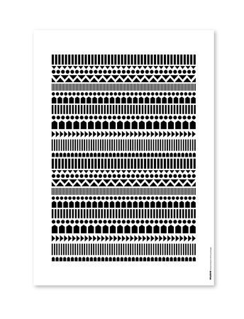 Knitting poster, black & white www.muovoshop.com