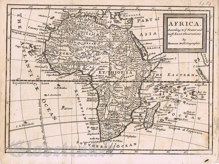 14 best antique maps images on pinterest bohemia british isles antique map of africa 1760 hermann moll sciox Gallery