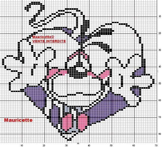 Diddl perler bead pattern