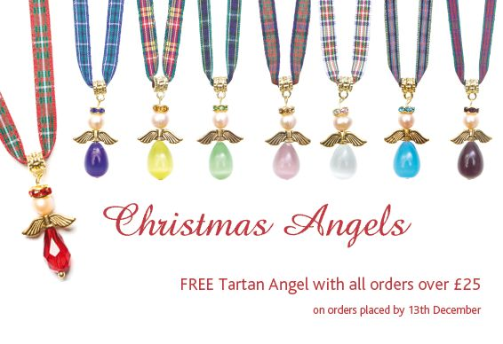 Our Christmas gift to you is a free real pearl Tartan Angel worth £10.50 on all orders of £25 and over. http://www.tartantwist.com