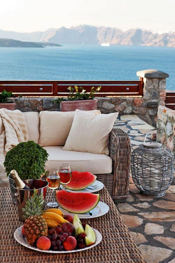 Champagne hour, Akrotiri, Santorini