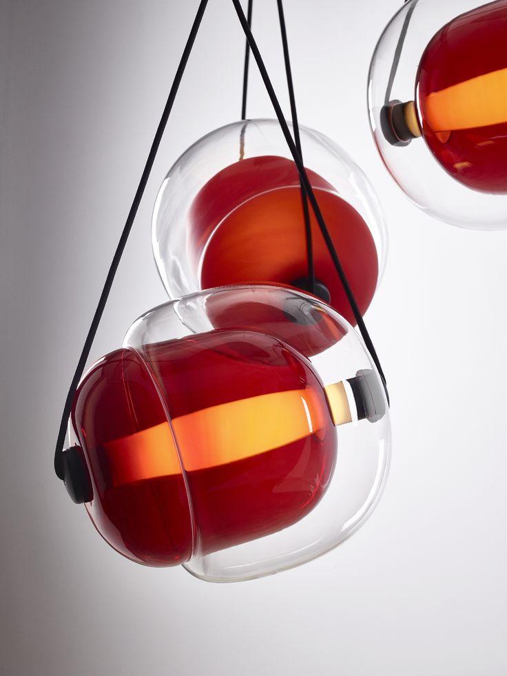 CAPSULA by Lucie Koldova  Brokis - interior - light - design - red.