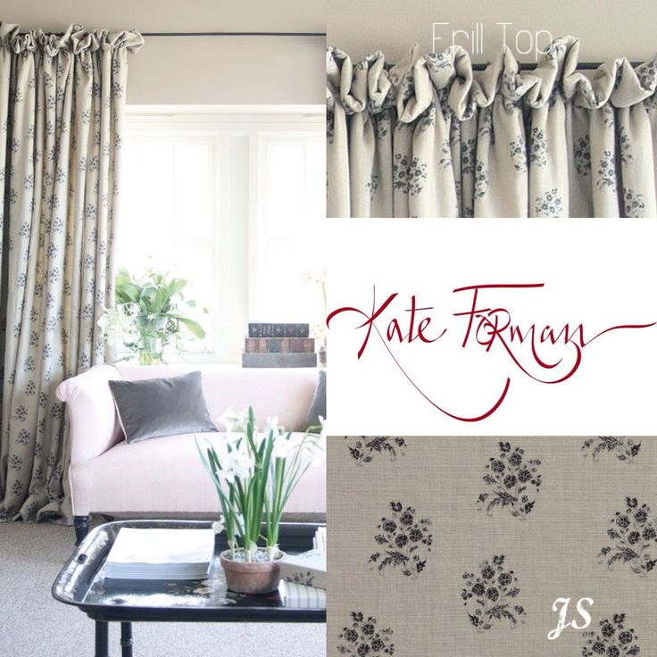 Frill Top, Curtain fabric: Agnes Charcoal - Kate Forman Inspiration by Joanne Sandford - Images supplied by Kate Forman Designs