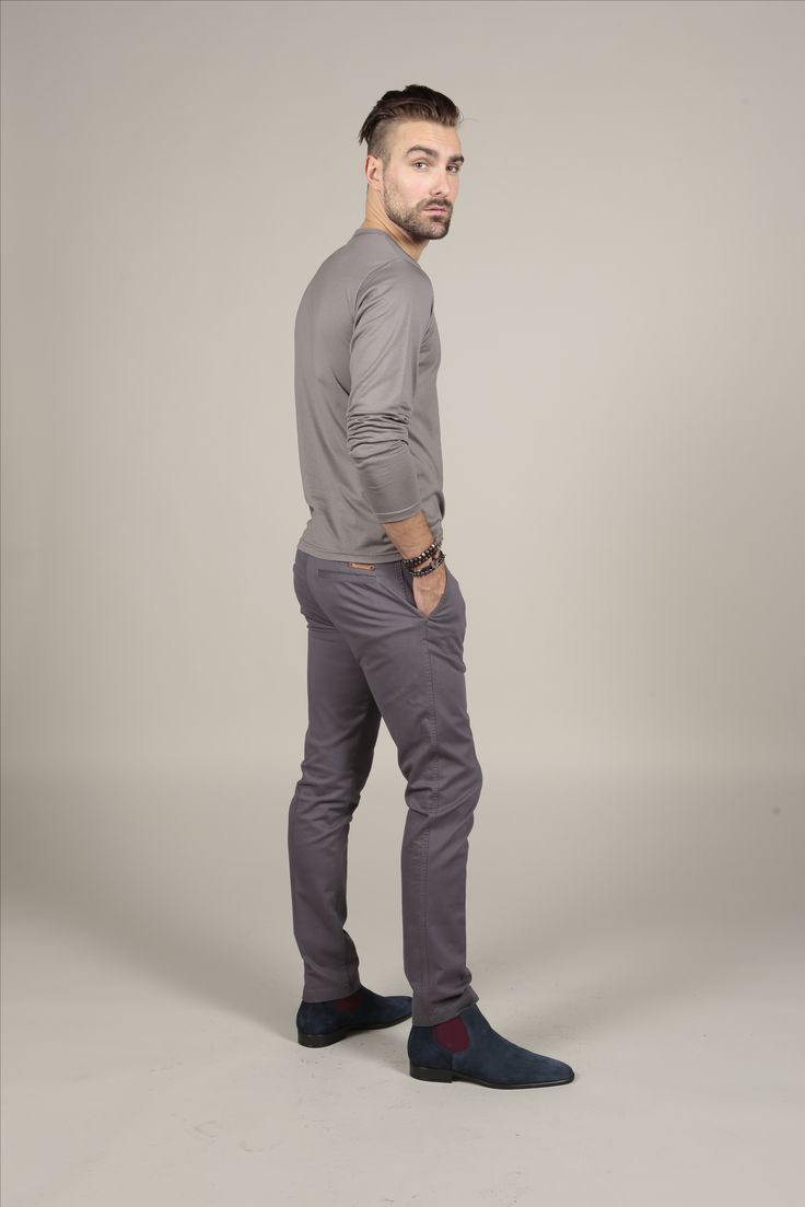 Crew Neck Supima T Shirt from THE COTTON | Italian slim Fit Chino |  Sustainable Clothing