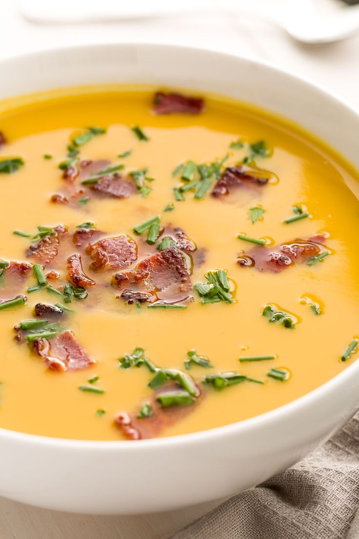 Trader Joe's Butternut Squash Soup with Bacon