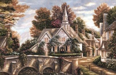 """Country Church""  Artist, Betsy Brown  ©"