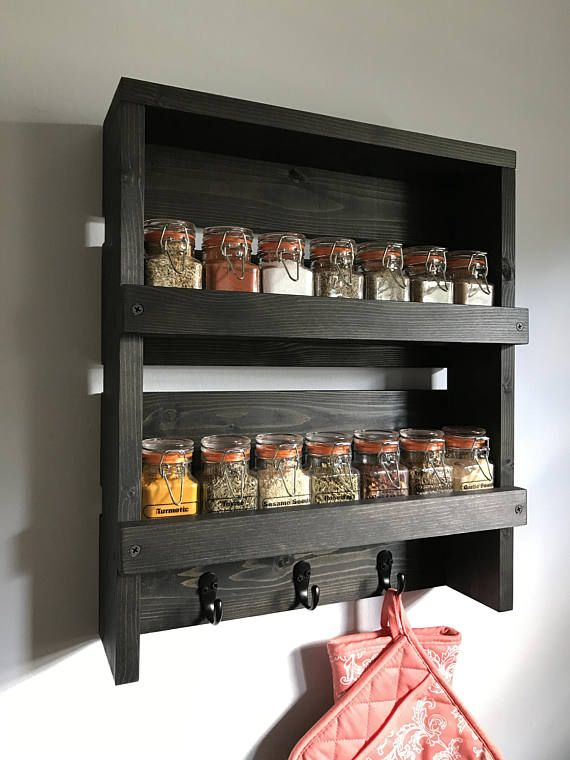 Best 25 wall mounted spice rack ideas on pinterest wall spice rack spice rack with spices - Wall mounted spice racks for kitchen ...