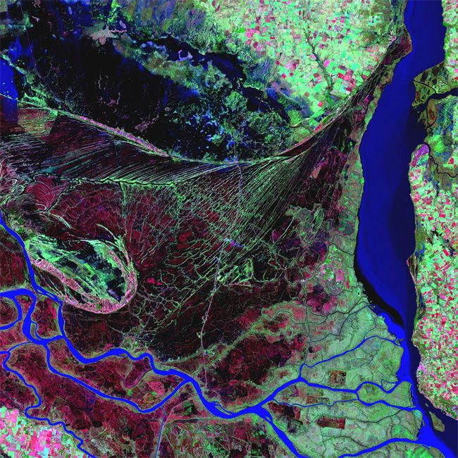 Earth as Art: Parana River Delta