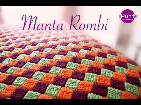 Tutorial Manta Rombi. Entrelac a crochet o ganchillo - YouTube