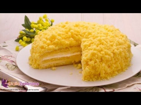 Mimosa cake , italian recipe: for all women of the world!!!A pretty yellow mimosa cake to celebrate the women in your life... happy March 8th