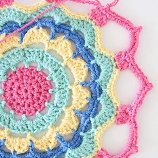 crochet mandala pattern                                                                                                                                                                                 More