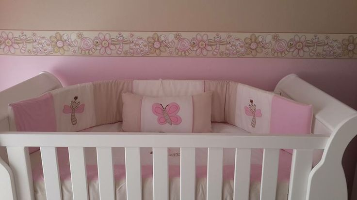 Insects nursery - pink and stone accents, too beautiful!  orders@borderboutique.co.za