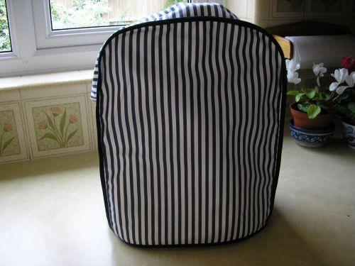 Sized for the standard Magimix Food Processor,  cover  in Swiss cotton in fine navy blue and white stripes. £19.99.  SOLD OUT