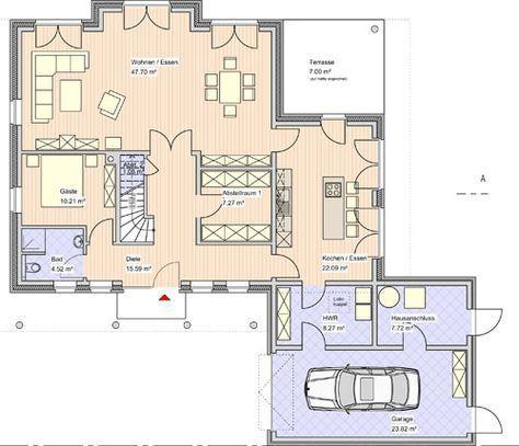 101 best Hausbau images on Pinterest Future house, House floor - küche mit kochinsel grundriss