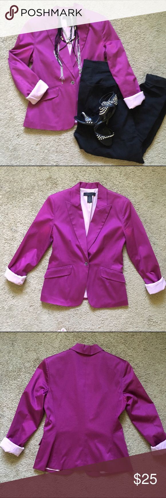 Gorgeous purple blazer In great shape! Purplish magenta color, looks pinker in the sun. The Limited Jackets & Coats Blazers
