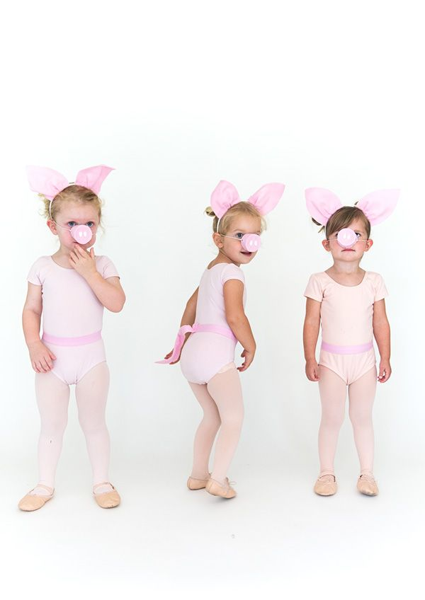 Continuing with our series on kids halloween costumes we have three little pigs today. I love classic costumes that everyone will recognize and are nostalgic for adults. Also, I try to make every costume an excuse to dress up little ones in tights and leotards because there's nothing sweeter! Here's how to put these 3 little …