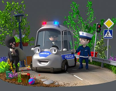 """Check out new work on my @Behance portfolio: """"Police car"""" http://on.be.net/1Tx1ydF"""