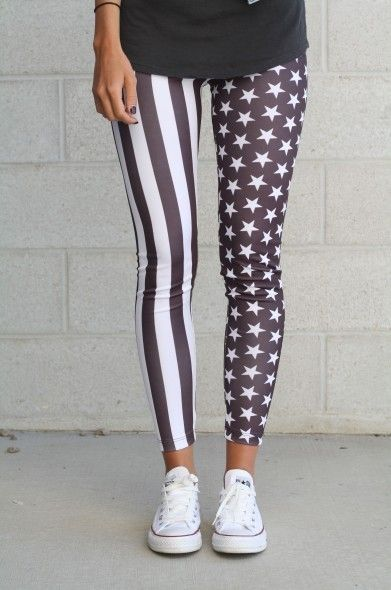 American Flag leggings - Bottoms - Shop I would totally wear this under a jean skirt