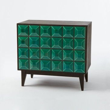 Lubna Chowdhary Tiled Buffet, Teal midcentury buffets and sideboards - redo an imperfect piece with color on the fronts of drawers?