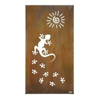 """Sichtschutz Cortenstahl Stele """"Gecko"""""""