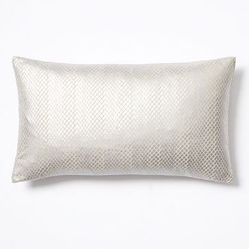 """$19.99 Frosted Diamond Pillow Cover Dimensions: 12""""l x 21""""w"""