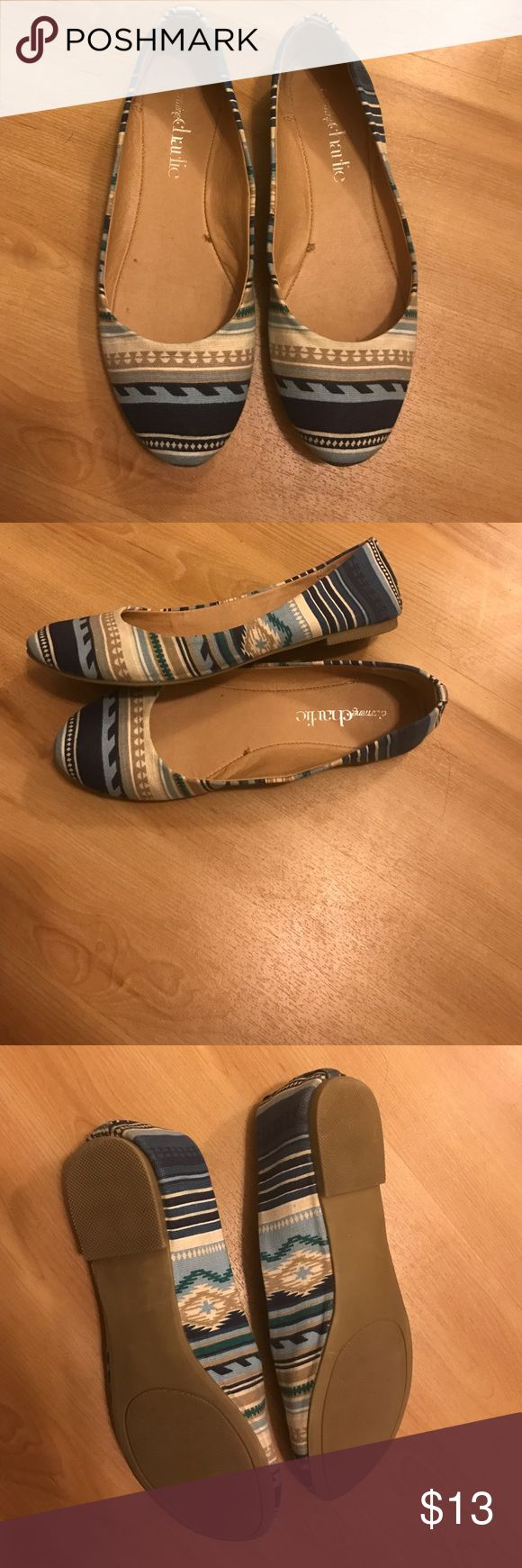 Charming Charlie Aztec Flats Previously worn, but still in good condition. Size 6 Charming Charlie Shoes Flats & Loafers