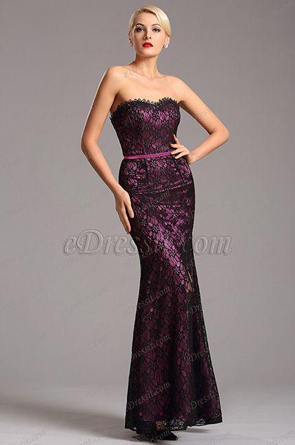 Strapless Sweetheart Neck High Slit Purple Formal Dress (X07151206) list price: $169.99 sale price: $110.49