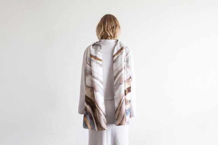Studio Cosima x Studio Haze Mineral silk scarf collection  Agate scarf 38 x 188 cm