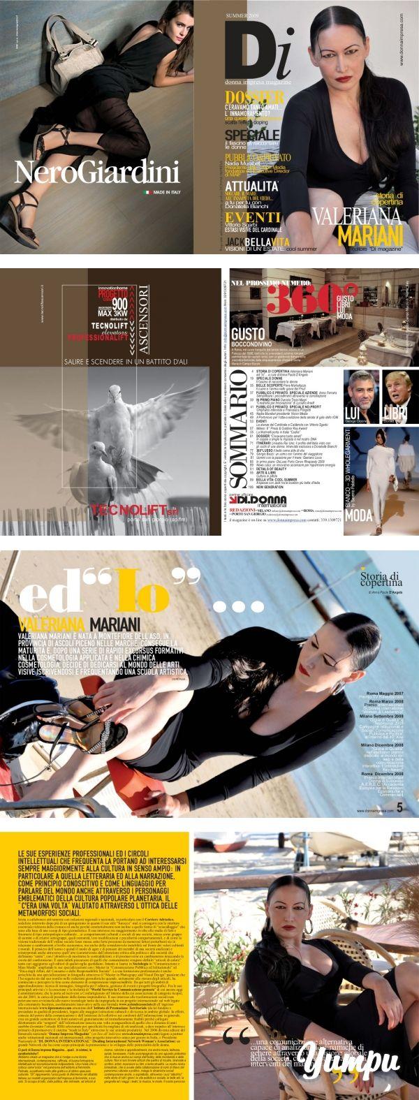 Donna Impresa Magazine COVER Valeriana Mariani Editore e Presidente Di magazine…