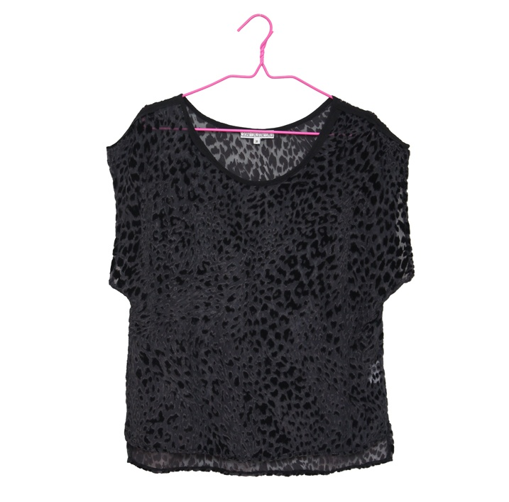 DAGMAR Gabrielle velvet burnout top