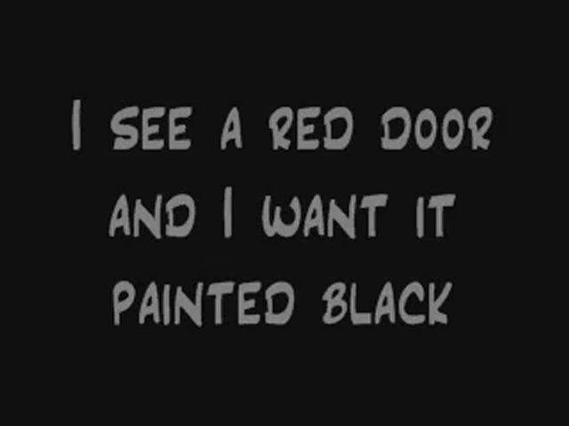 Rolling Stones Paint It Black Lyrics Dailymotion