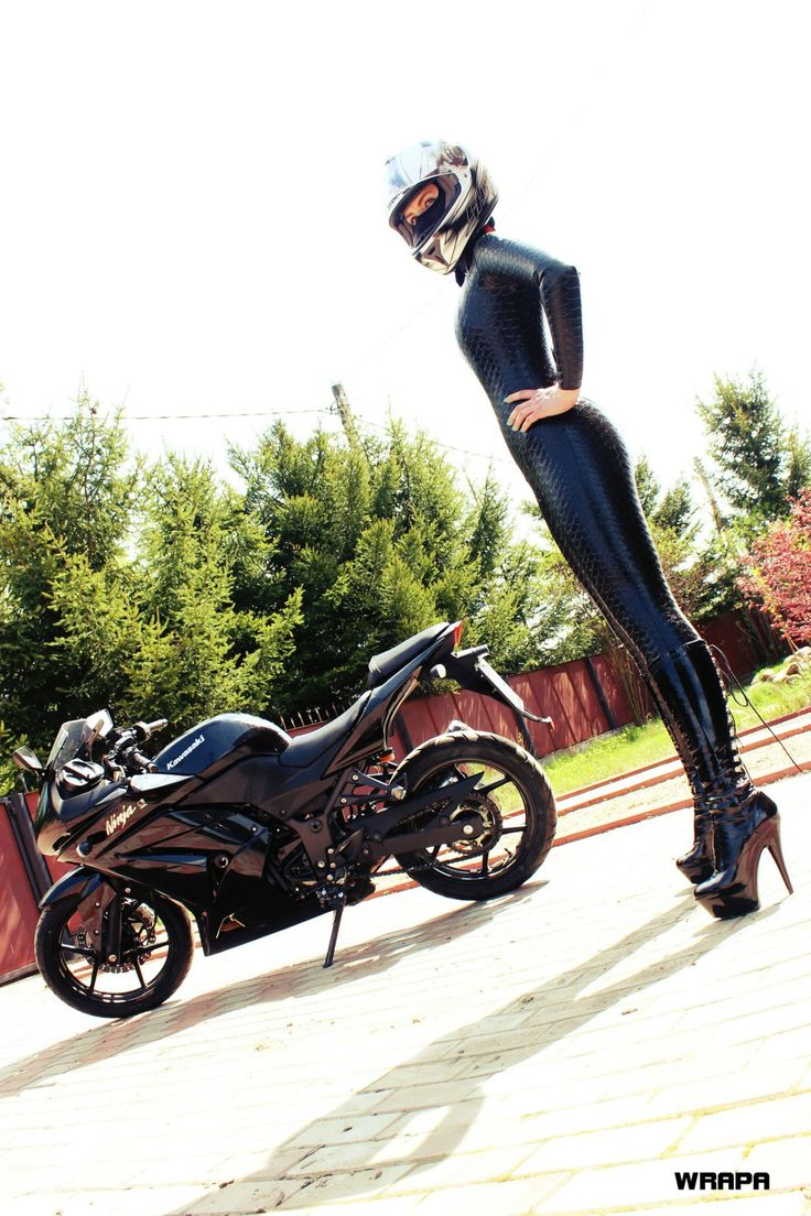 Latex rubber racing suit motorcycle