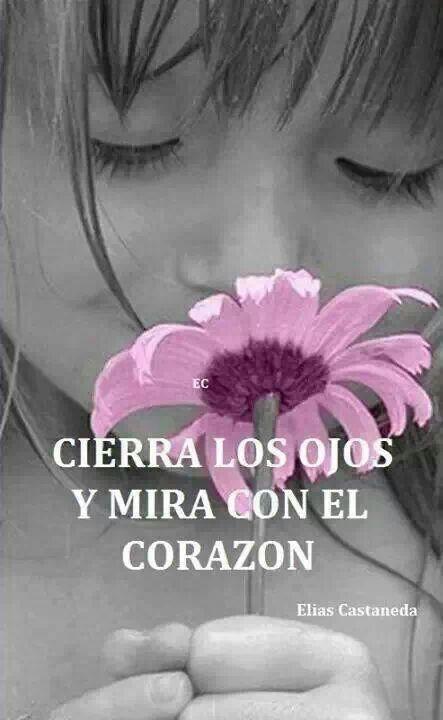 Cierra los ojos y mira con el corazón...Close your eyes  look with your heart
