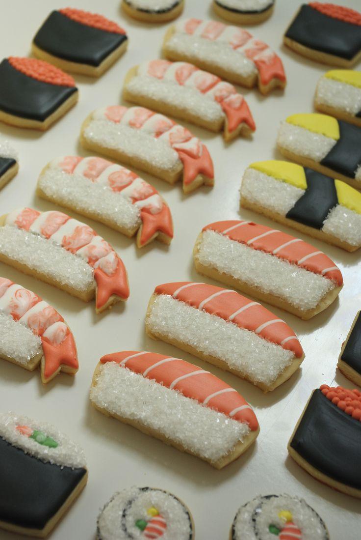 sushi themed cookies www.teenytinybakery.com