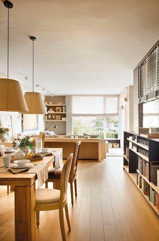 Egy tökéletes kis másfél szobás lakás meleg, természetes árnyalatokkal - kép: El Mueble