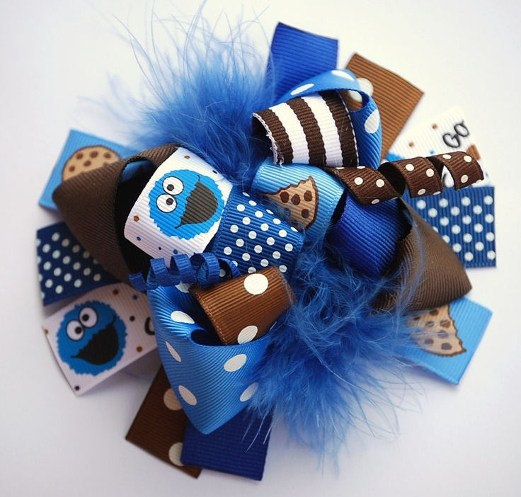 Clip Art Bow Clip 1000 ideas about bow clip on pinterest hair bows boutique funky fun cookie monster by andjane etsy 12 99 via