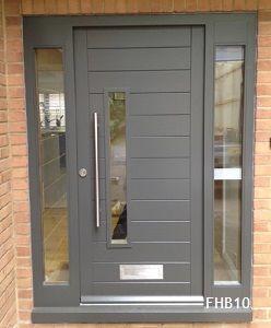 grey contemporary doors