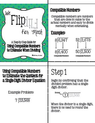 Flip for Math: Using Compatible Numbers to Estimate Division ...