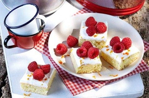 40 easy tray bake recipes - Slimming World's orange and raspberry bites - goodtoknow