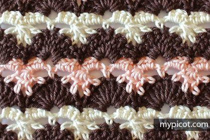 Crochet Multicolored stitch MyPicot | Free crochet patterns