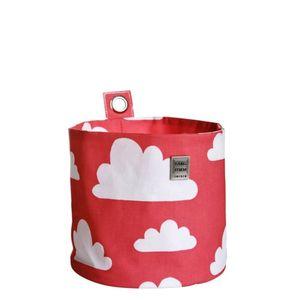 Påse till krok, röd med vita moln, liten