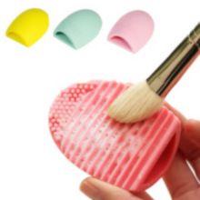 New Pop Scrubber Escova Ovo Make up Escova de Lavagem de Limpeza Luva de Silicone Cosméticos Foundation Pó Ferramentas Limpas alishoppbrasil