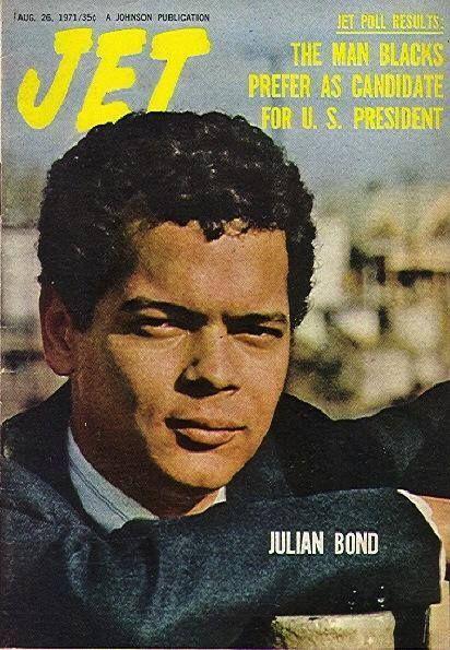 "From Facebook - ""HBCUstory"" page 1/2015.  Julian Bond on Jet magazine, 1971."
