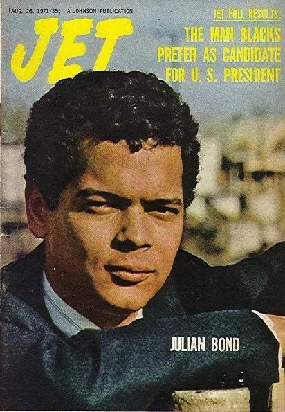 "From Facebook - ""HBCUstory"" page 1/2015.  Julian Bond on Jet magazine, 1971."