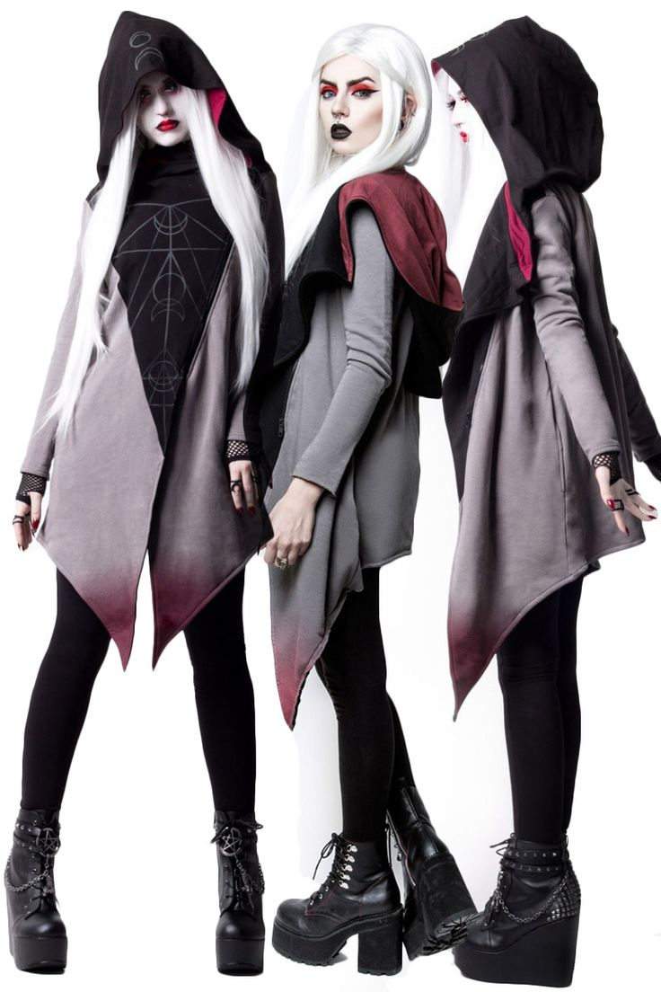 Rogue and Wolf Gothic Hoodie, Moon Ritual Cardigan with oversized hood