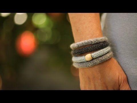 How to Make Felted Knit Wool Bracelets || KIN DIY