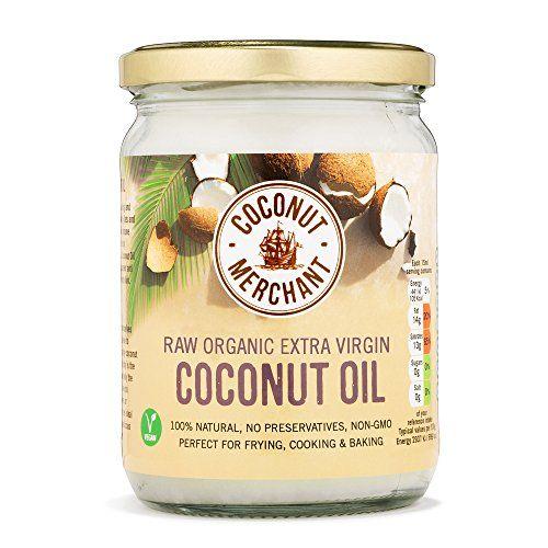 Huile de noix de coco – 500 ml Huile de noix de coco biologique extra vierge et non raffinée: Extra Virgin Organic Raw Coconut Oil 500ml…