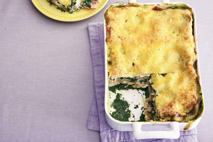 Lasagne met ham en spinazie - Recept - Allerhande