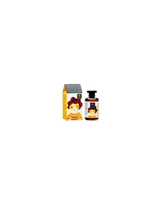 APIVITA KIDS BODY WASH WITH APRICOT & HONEY 250ML Η ΑPIVITA δημιούργησε τη σειρά KIDS ειδικά σχεδιασμένη για να εξασφαλίσει την πιο φυσική και απαλή φροντίδα της ευαίσθητης παιδικής επιδερμίδας Το αφρόλουτρο με βερίκοκο και μέλι χάρη στους ήπιους φυσικούς καθαριστικούς παράγοντες και σε επιλεγμένα συστατικά από βερίκοκο καλέντουλα σιτάρι και μέλι καθαρίζει απαλά και βοηθά στη διατήρηση της υγρασίας της επιδερμίδας
