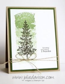 Julie's Stamping Spot -- Stampin' Up! Project Ideas by Julie Davison: Classic Combo: Lovely as a Tree + Work of Art